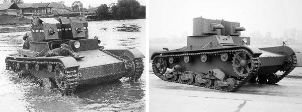 Т-26 и Vickers Mk E