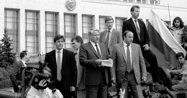 Ельцин у Белого Дома