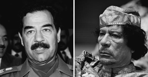 Хусейн и Каддафи